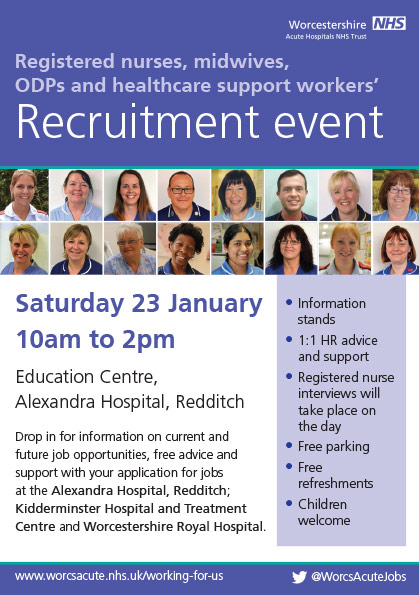 Recruitment event flyer Jan 2016