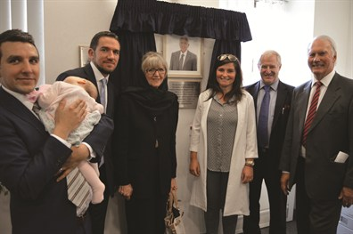 The Arafa family with Karl Bell and Alan Price at the dedication